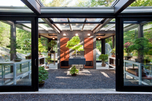 Glass Shed Exhibition Stand Design : Modern masters inspire a glass garden house